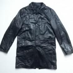 Palton piele naturala Essebi Since 1980 Real Leather; marime 50, vezi dim.;ca nou - Palton barbati, Culoare: Din imagine