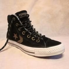 Tenisi Converse One Star originali de piele, marimea 37 EUR (23.5 cm) - Tenisi dama, Culoare: Negru
