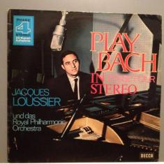 Jaques Loussier Play BACH (1976/DECCA/RFG)- Vinil/RAR/Phase 4 Stereo Chanel - Muzica Clasica decca classics