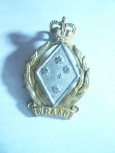 Insigna de sapca  Armata Regala Australia - Corpul de femei WRAAG ,h= 3,8 cm
