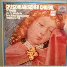 GREGORIAN CHORAL - TOTENMESSE (1955/ARCHIV REC/RFG) - Vinil/IMPECABIL(NM) - Muzica Clasica universal records