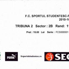 Bilet meci fotbal SPORTUL STUDENTESC - RAPID BUCURESTI 24.10.2010