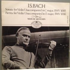 BACH - Sonata/Partita for Violin - Y.Menuhin (1977/HUNGAROTON)- Vinil/Impecabil - Muzica Clasica Altele