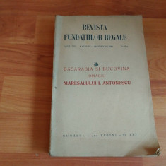BASARABIA SI BUCOVINA -OMAGIU MARESALULUI I.- ANTONESCU - Istorie