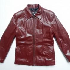 Geaca piele naturala Vera Pelle (Real Leather) Made Italy; M, vezi dim.; ca noua - Geaca dama, Marime: M, Culoare: Din imagine