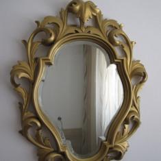 Oglinda de perete din lemn anii 1900- Superba !