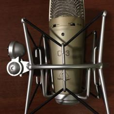 Microfon condenser profesionist, Behringer C-3 + shock mount aluminiu bonus