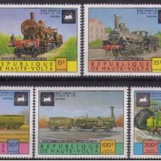 Africa, Volta Superioara, trenuri, 1975, MNH - Timbre straine, Transporturi, Nestampilat