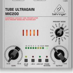 Preamplificator de microfon/chitara, cu lampa, Behringer Tube Ultragain MIC200 - Amplificator studio