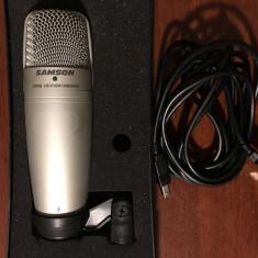 Microfon USB de studio condensator Samson C01U + bonus pop filtru Samson PS01