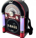 Radio retro tonomat cu mp3 cu usb sd, 0-40 W, Waxiba