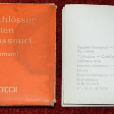 Lot 12 carti postale liliput - Castelul si gradina Sanssouci Potsdam - Interior - Carte postala tematica, Necirculata, Fotografie, Germania