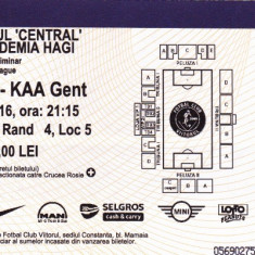 Bilet meci fotbal VIITORUL - KAA GENT 04.08.2016