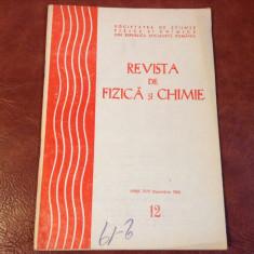 Revista de Fizica si Chimie - anul XVII - nr 12 / decembrie 1980 ! - Revista scolara