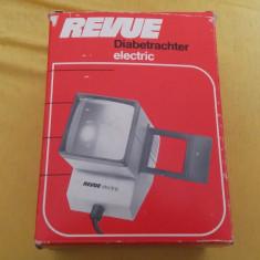 PROIECTOR DIAPOZITIVE ELECTRIC REVUE , ESTE NOU .