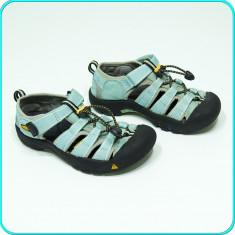 DE FIRMA _ Sandale / pantofi vara, PIELE, calitate KEEN _ baieti, fete | nr. 32 - Sandale copii Keen, Culoare: Aqua, Unisex