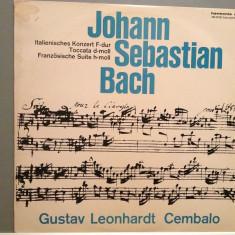 BACH- Italian Concert/French Suite/Toccata(1966/DECCA/RFG)- Vinil/RAR/Impecabil - Muzica Clasica deutsche harmonia mundi