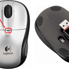 Mouse LOGITECH; model: M-RBS136; PORTOCALIU; USB; WIRELESS;