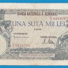 100000 lei 1946 28 Mai 7 - Bancnota romaneasca