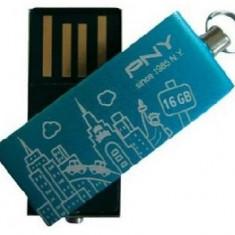 USB STICK PNY; model: CITY-BLUE; capacitate: 16 GB; interfata: 2.0; culoare: ALBASTRU - Stick USB