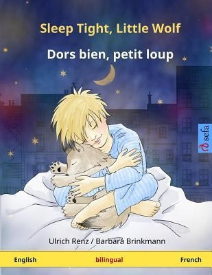 Sleep Tight, Little Wolf - Dors Bien, Petit Loup. Bilingual Children's Book (English - French) foto