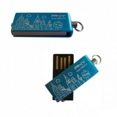 USB STICK PNY, 16GBCITYBLU-EF; capacitate: 16 GB; interfata: 2.0; culoare: BLUE - Stick USB