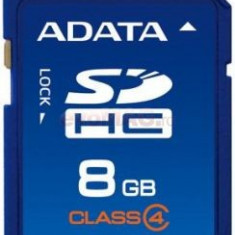 SD-HC CARD ADATA; capacitate: 8 GB; clasa: 4 - Secure digital (SD) card