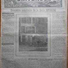 Ziarul Universul , 12 Februarie 1890 , Baile Eforiei