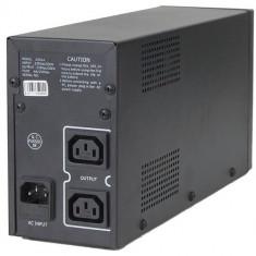 UPS GEMBIRD; model: UPS-PC-652A 650VA; format: TOWER; iesiri: 2; baterii NOI; stare: NOU