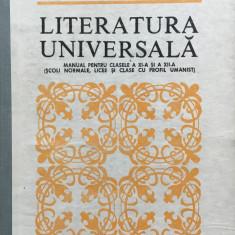 LITERATURA UNIVERSALA. Manual pentru clasele a XI-a si a XII-a - O. Drimba - Culegere Romana