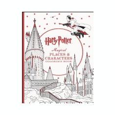 Harry Potter Magical Places & Characters Coloring Book - Carte de colorat