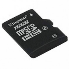 MICRO SD CARD KINGSTON; model: SDC10/16GB; capacitate: 16 GB; clasa: 10; culoare: NEGRU - Card Micro SD