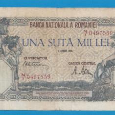100000 lei 1946 1 aprilie 3 - Bancnota romaneasca