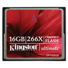 CF CARD KINGSTON; model: CF/16GB-U2; capacitate: 16 GB; culoare: NEGRU - Card Compact Flash