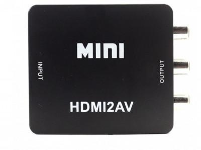 Adaptor Convertor HDMI la RCA Audio Video, HDMI la AV, Full HD 1080p foto