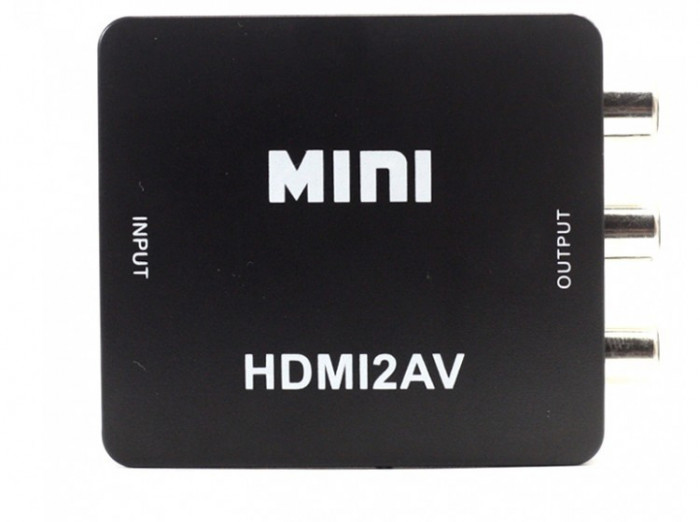 Adaptor Convertor HDMI la RCA Audio Video, HDMI la AV, Full HD 1080p foto mare