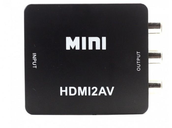 Adaptor Convertor HDMI la RCA Audio Video, HDMI la AV, Full HD 1080p