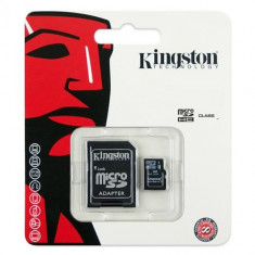 MICRO SD CARD KINGSTON; model: SDC4; capacitate: 32 GB; clasa: 4; culoare: NEGRU - Card Micro SD