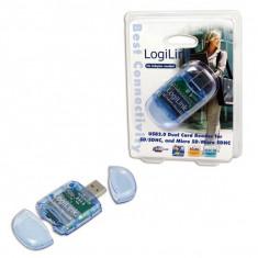 LOGILINK ADAPTOR; USB 2.0 M la SD/SDHC/MicroSD/MicroSDHC, CR0015, extern - Adaptor interfata PC
