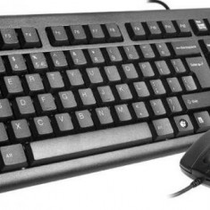 Kit Tastatura + Mouse A4TECH; model: 72620D; layout: US; NEGRU; PS2;