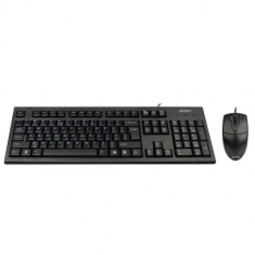 Kit Tastatura + Mouse A4TECH; model: 8520D; layout: US; NEGRU; PS2;