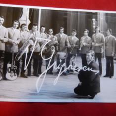 Fotografia Formatiei de instrumentisti V.Grigorescu ,autograf tiparit