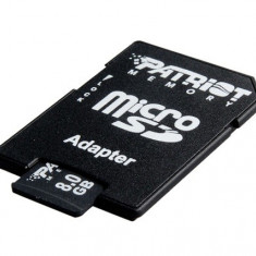 MICRO SD CARD PATRIOT; capacitate: 8 GB; clasa: 4; Adaptor; - Card Micro SD