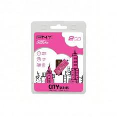 USB STICK PNY; model: 16GBCITYP-BX; capacitate: 16 GB; interfata: 2.0; culoare: ROZ - Stick USB