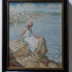 Eugen Urbanski de Nieczuja, La malul marii - Pictor roman