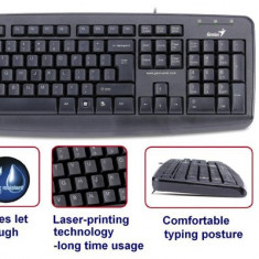 Kit Tastatura + Mouse GENIUS; model: KM-110X; layout: US; BLACK; USB
