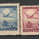 Polonia.1946 Posta aeriana-Avion deasupra Varsoviei SP.86, Nestampilat