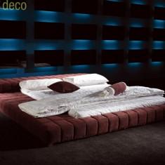 Pat tapitat (model mobdeco) - Pat dormitor