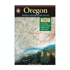 Benchmark Oregon Road & Recreation Atlas - Harta Rutiera