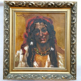 Cumpara ieftin OCTAV BANCILA - pictor national - TIGANCA - 1929 - ulei / pinza